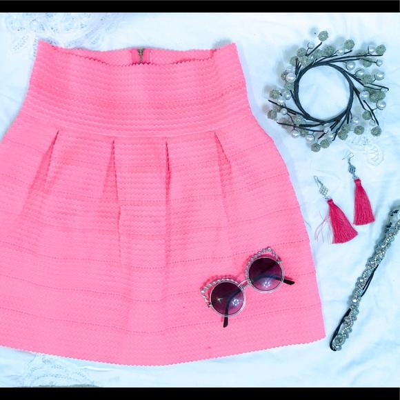 Francesca's Collections Dresses & Skirts - Francesca's🌺 Neon Pink Bandage Skirt